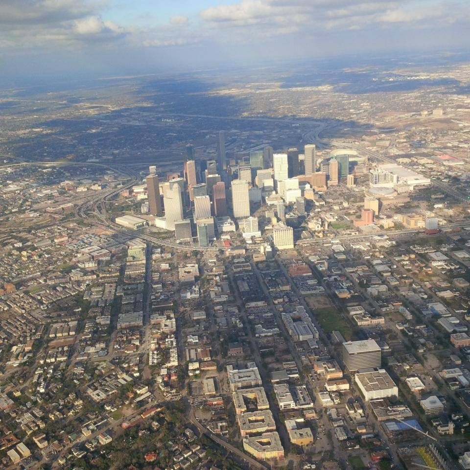 Houston from sky